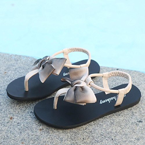 Casual Loafer Sandals Khaki Sandals Womens Inkach Thong Fashion Summer Flats Slippers Shoes Flip Flops Bohemia wfvqfRS
