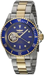 Invicta Women's Pro Diver Gold-Tone Steel Bracelet & Case Automatic Black Dial Analog Watch 21719