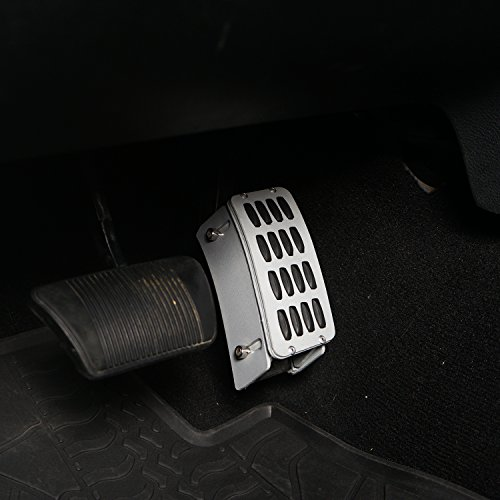 Hooke Road Gas Pedal Cover Aluminum Alloy Heightening Pedal for 2007-2018 Jeep Wrangler JK & Unlimited