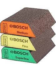 Bosch Professional 3x Expert S470 Combi klossar (69 x 97 x 26 mm, Grovlek Medelgrov/Fin/Superfin, tillbehör Handslipning)