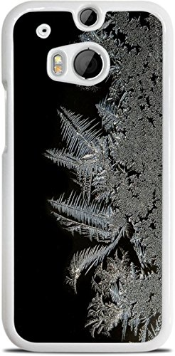 Frost Freeze Design White Hardshell Case for HTC One M8 by MWCustoms ()