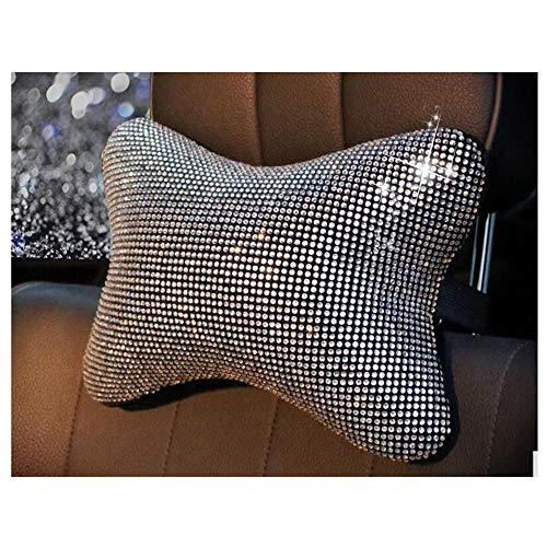 (Siyibb 1 Pc Crystal Rhinestone Car Headrest Pillow Neck Support Cushion)