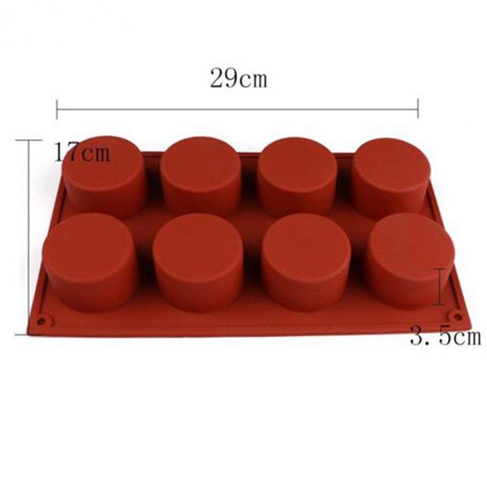 HBlife 8 cavidad jabón cilindro redondo molde DIY molde del ...