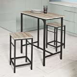 Haotian Sling High Bistro Set,Home Kitchen Outdoor Garden Bar Set,Patio Furniture, Dining Set (OGT10-N)