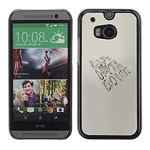 HTC One M8 , Radio-Star - Cáscara Funda Case Caso De Plástico (Life - Ups And Downs)