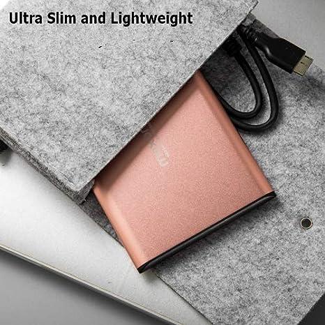 160GB, Charcoal 2.5 Aluminum Portable External Hard Drive USB 3.0 Ultra Slim HDD for PC//Desktop//Laptop//TV//Mac//MacBook//Chromebook//Windows//XBox//PS4