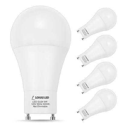 Lohas gu24 bulb a19 led bulb 60w equivalent 9w led 5000k daylight lohas gu24 bulb a19 led bulb 60w equivalent 9w led 5000k daylight bulbs non dimmable lights aloadofball Choice Image