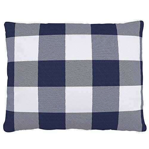 - Carousel Designs Navy and White Buffalo Check Accent Pillow