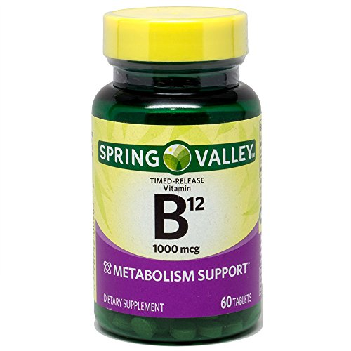 Spring Valley – Vitamin B-12 1000 mcg, Timed Release, 60 Tablets