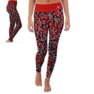 York College Cardinals Womens Yoga Pants Origami Design (Small)