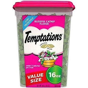 TEMPTATIONS Classic Cat Treats, Blissful Catnip Flavor, 16 oz. Tub