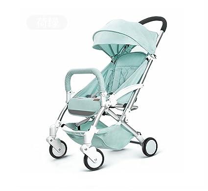 XnZLXS-Cochecitos Carrito para niños Simple High Landscape Carrito para bebés Lightweight Fold Baby para