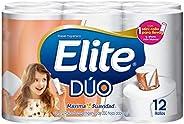 Elite Dúo Papel Higiénico Doble Hoja 12 Rollos