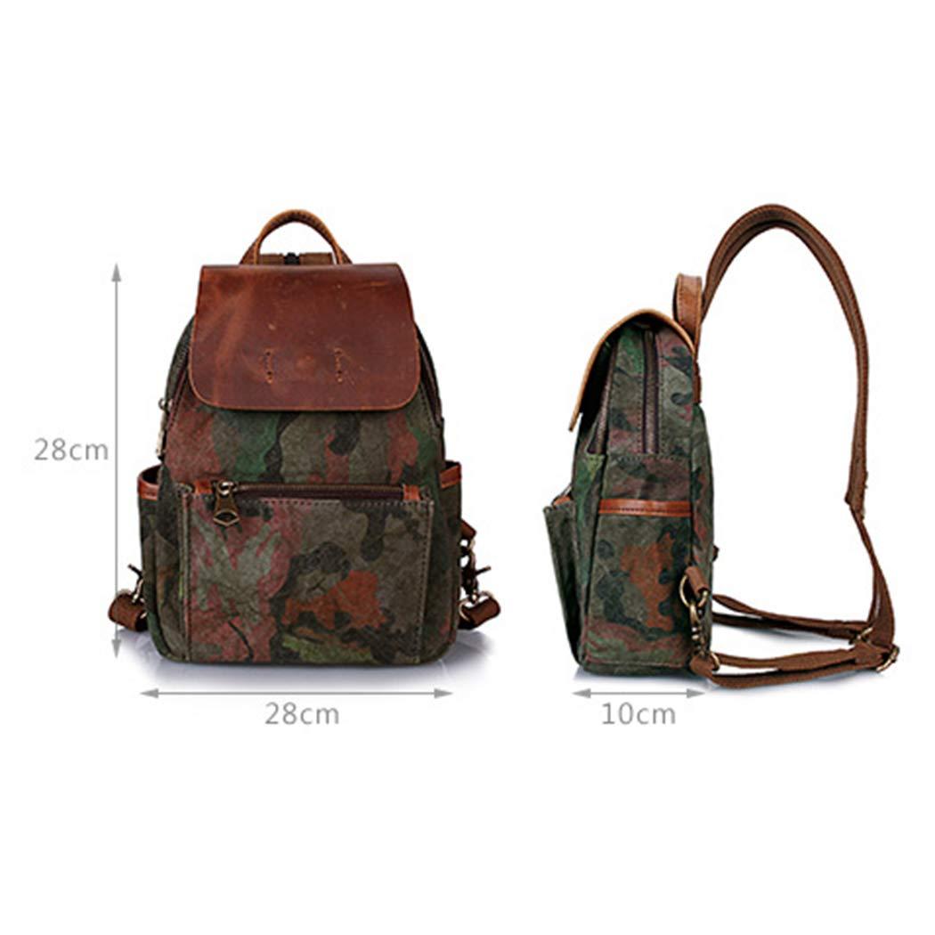 LXLX-bag Canvas ryggsäck retro ryggsäck resetyg vattentät laptopväska högskola väska kamouflage ryggsäck BLÅ