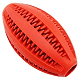 Aduck Durable Dog Ball Toys for Aggressive Chewers [Bite Resistant] Soft Natural Rubber Bouncy Ball for Interactive Training Playing and Teeth Cleaning