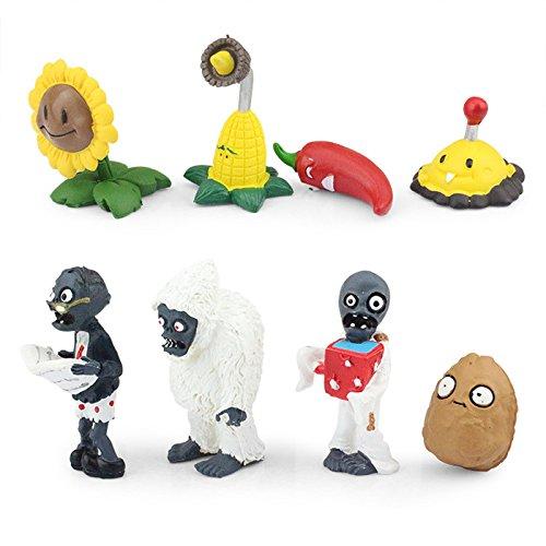 Plants Vs Zombies 24pcs/set PVC Action Figure Toys Doll Kids Gift