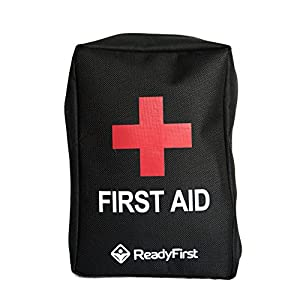Ready First Aid Kit - Your Complete Personal Survival Kit With A Tactical Molle Strap On Back. A Compact 95 Piece Individual First Aid Kit For Traveling, Hiking, Camping, Hunting, Fishing, Sports
