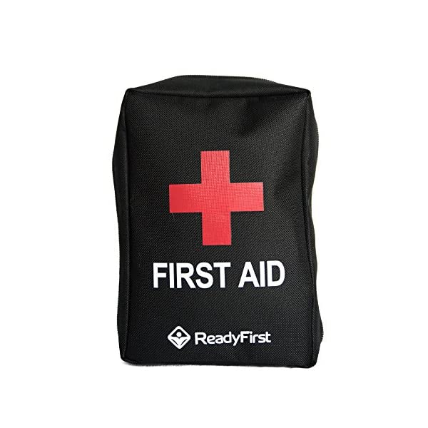 Ready First Aid Kit   Your Complete Personal Survival Kit With A Tactical Molle Strap On Back. A Compact 95 Piece Individual First Aid Kit For Traveling, Hiking, Camping, Hunting, Fishing, Sports
