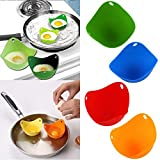 Egg Cup Foam Mattress Ayutthaya shop 2pcs Silicone Egg Poacher Cook Poach Pods Kitchen Cookware Poached Baking Cup (ramdom color)