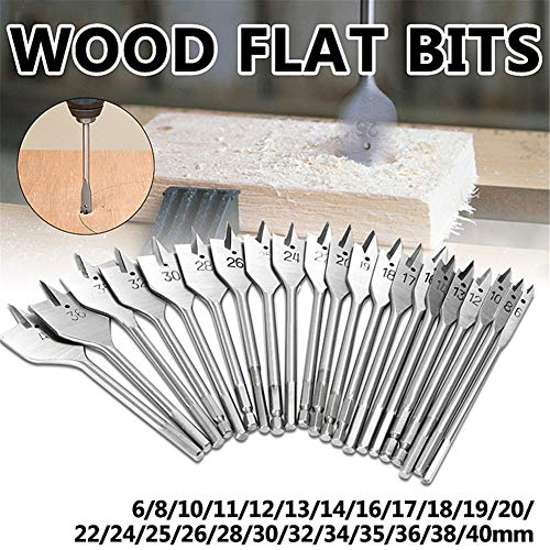 (?Drill Bit, Maserfaliw 6-40mm Flat Wood Drill Bits Carbon Steel Spade Hex Shank Cutter Carpenter Tool - 13mm, A Must-Have Tool For Home, Can Be Used As A Holiday)