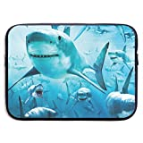 LiaanQianga Shark 13-15 Inch Laptop Sleeve Bag - Tablet Clutch Carrying Case,Water Resistant, Black