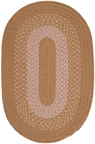 Contemporary 4' Round Area Rug in Amber color from Michigan Collection (Gold Rug Area Amber)