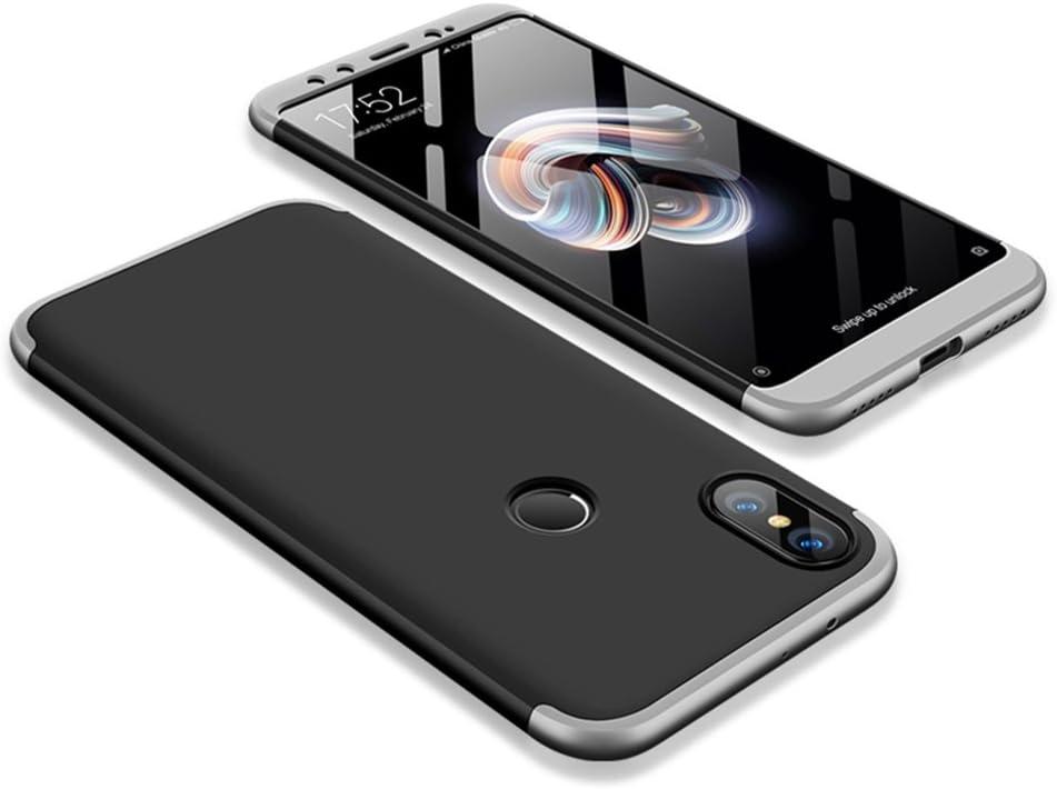 SOCINY Funda Xiaomi Mi 6X/Xiaomi Mi A2,Grados de Cobertura de Cuerpo Completo Protección Combinación de PC Anti-Scratch Ultrafina Funda antichoque con Todo Incluido Funda-Negro+Oro: Amazon.es: Electrónica