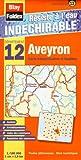 Aveyron (12). Carte Départementale, Administrative et Routière (échelle : 1/180 000)
