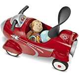 Radio Flyer Retro Rocket Lights and Sounds Activity Ride-On Toy in Red