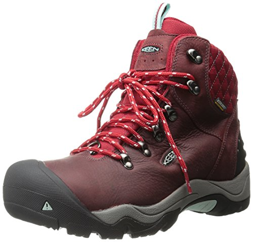 KEEN Women's Revel III Winter Boot, Racing Red/Eggshell, 8.5 M US