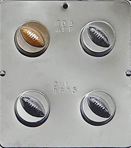 S118 Football Oreo Cookie Chocolate Candy Soap Mold with Instructions