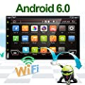 "Best Wifi Model Android 6.0 Quad-Core 6.95"" Full touch-screen Universal Car DVD CD player GPS 2 din Stereo GPS Navigation free camera and map from CHINA"