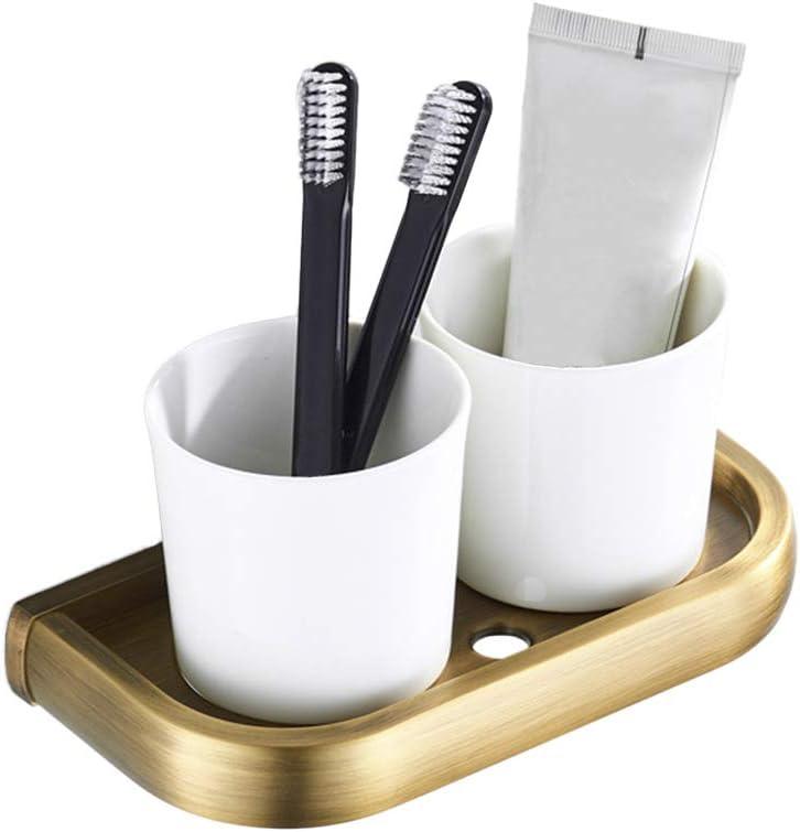 Six brush White Stoneware Sapphire over Black Wheel Thrown Pottery Bathroom Organizer Large Holes Handmade Toothbrush Holder