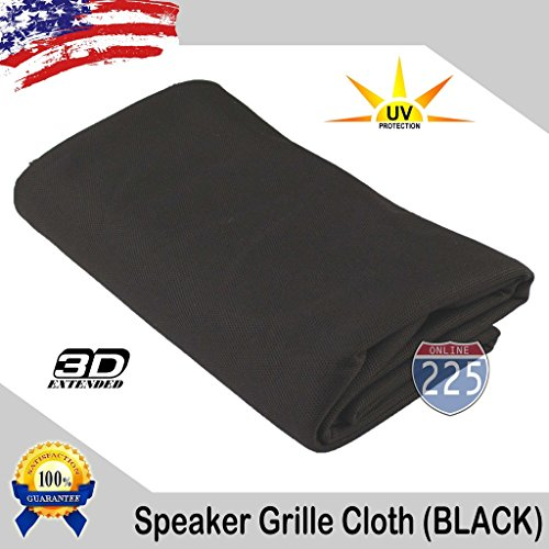 Black Stereo Speaker Grill Cloth Fabric 36
