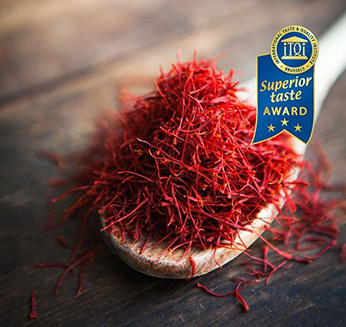 Redsaff Afghan Saffron Threads (250 plus grade A) Empire Quality, Organically Grown, Non GMO, Vegan Saffron (.35 once, 10 grams) by Redsaff Saffron (Image #1)