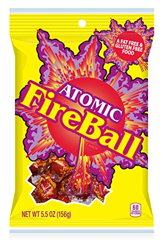 Atomic Fireball Hard Candy, Cinnamon Flavor, 5.5 Ounces