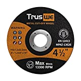 Truswe Cut Off Wheels 52 Pack,4 1/2 Inch,Metal and