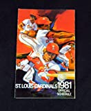 1981 St. Louis Cardinals Budweiser Baseball Pocket Schedule 112424S