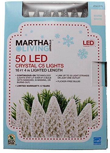 50 Light Crystal Warm White Light