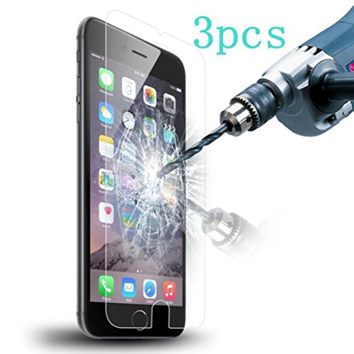 DDLBiz 3PC 9H Genuine Tempered Glass Film Screen Protector for iPhone 6...