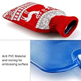 Hot Water Bottle with Knit Cover, UBEGOOD Rubber