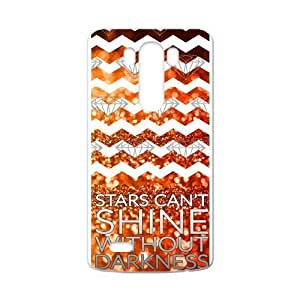 "Canting_Good Chevron Night view ""Stars Can't Shine Without Darkness"" Custom Case Shell Cover for LG G3 (Laser Technology)"