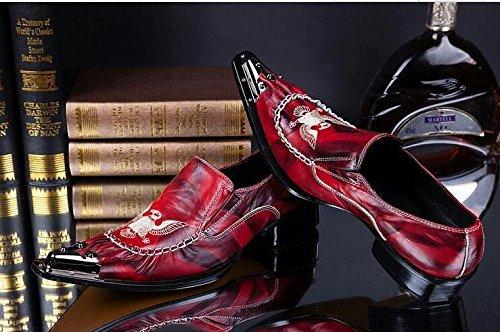 LHLWDGG.K Fiestas Casuales Para Hombres Y Casuales Zapatos Casuales Zapatos Italianos Oxford Para Hombres, Rojo, 9.5 9.5|red