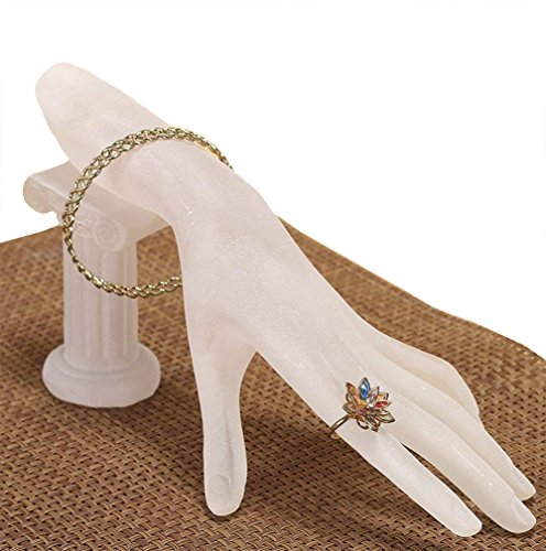 Funnuf Resin Hand Model Display Jewelry Rack Holder for Bracelet Ring, Frosted White by Funnuf (Image #6)