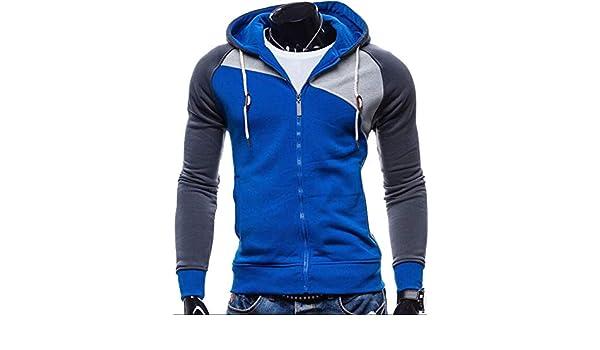 Amazon.com: NanGate 2018 Hoodies Men Sudaderas Hombre Hip Hop Mens Brand Leisure Zipper Jacket Hoodie Sweatshirt Slim Fit Men Hoody XXL,Blue,XL,China: ...
