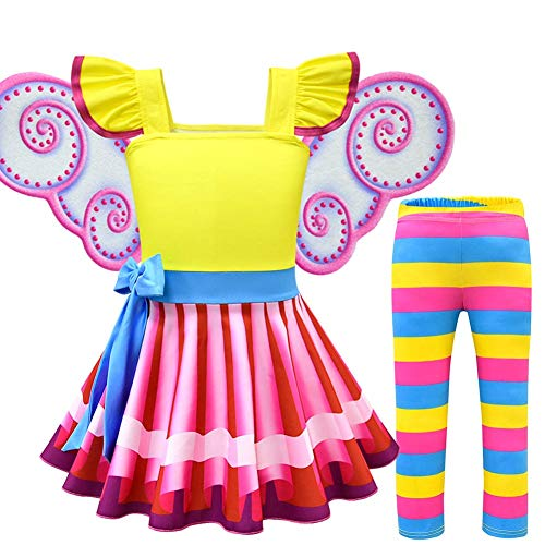 Fancy Nancy Cosplay Dresses Halloween Costume Dress up Clothes for Toddler Girls Multi (Yellow, -