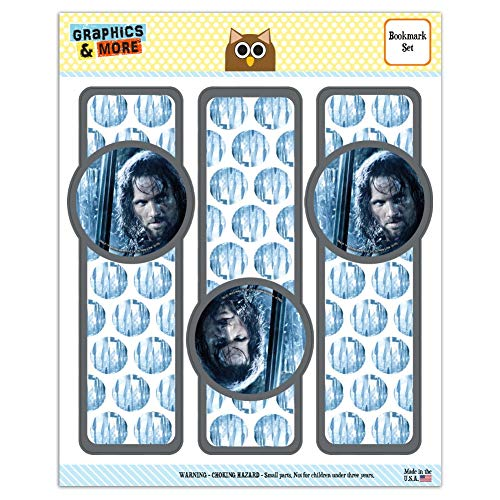 The Lord of The Rings Aragorn Character Set of 3 Glossy Laminated Bookmarks