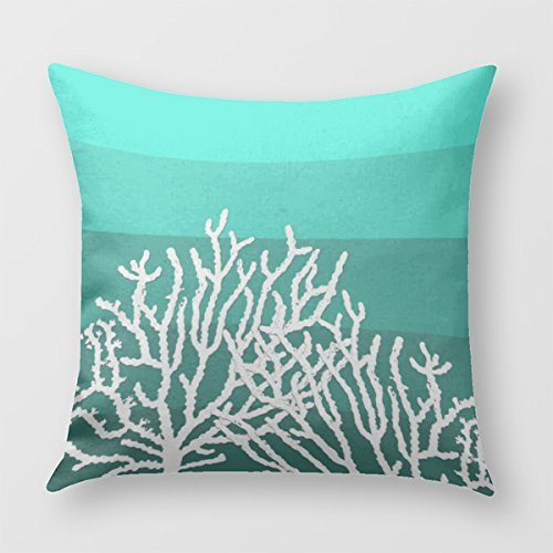 White Coral Blocks Pillow Bedroom product image