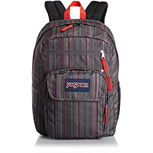 JanSport Digital Portal Backpack RED TAPE GRUNGE STRIPE