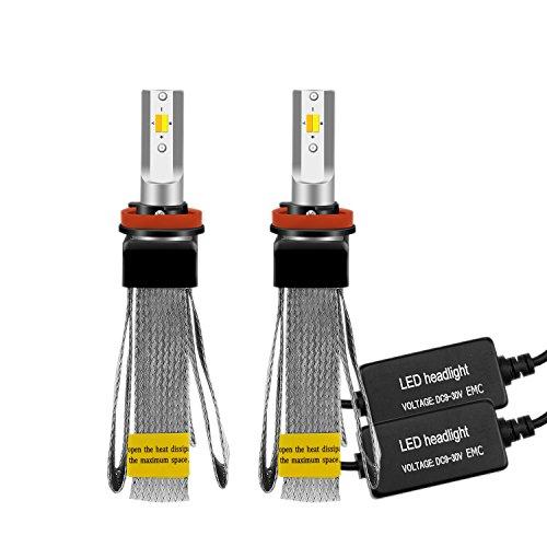 LEADTOPS 2PCS/SET H11 H8 H9 Led Car Headlight Kit 60W 8000LM 3000K 4500K 6500K All-In-One Driving Lamps Bulbs Fanless White